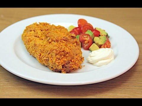 Doritos Crusted Fajita Stuffed Chicken