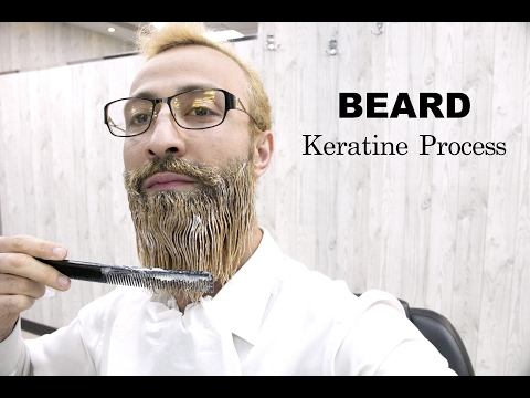 BEARD STRAIGHTENING ★BEARD TREATMENT ★ SMOOTHING CURLY BEARD TO STRAIGHT | DRY BEARD ✔️