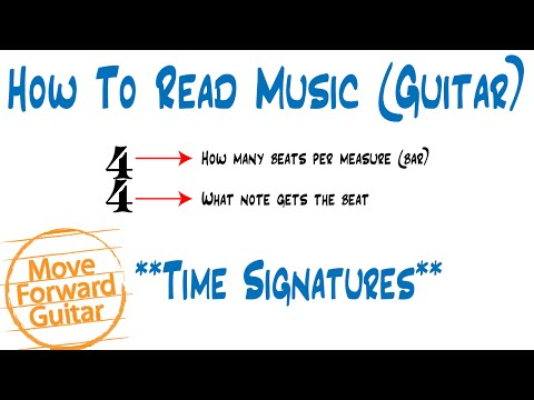 How to Read Music (Guitar) - Time Signatures