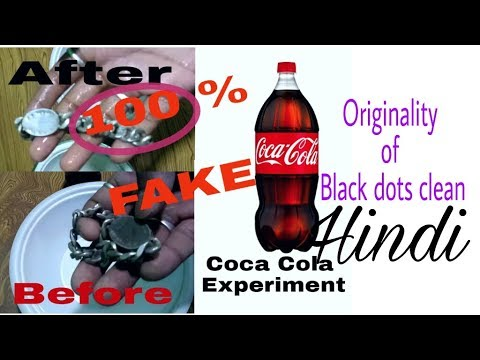 Cleaning silver chain , coca cola experiment How To clean [True Vs Fake] In Hindi