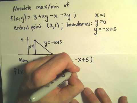 Absolute Maximum/Minimum Values of Multivariable Functions - Part 2 of 2