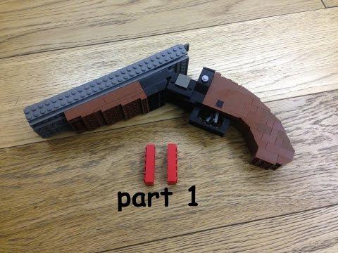 LEGO® double barreled shotgun sawed off tutorial by Jamblo (pt.1)