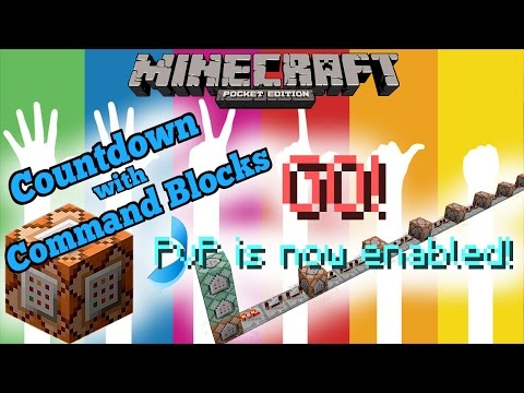 MCPE :: Countdown with Command Blocks :: Minecraft Pocket Edition 1.0.5