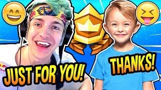 Ninja Gives This *cute* Kid A Free Battle Pass! (season 6) Fortnite Funny & Adorable  Moments