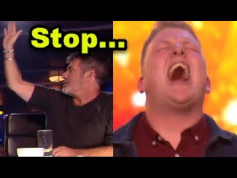 Simon HALTS Nervous Singer but then GOLDEN BUZZER