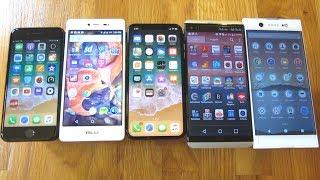 """Screen Size 6.0"""" Vs 5.8"""" Vs 5.7"""" Vs 5.2"""" Vs 4.7"""" Phones Comparison Side By Side"""