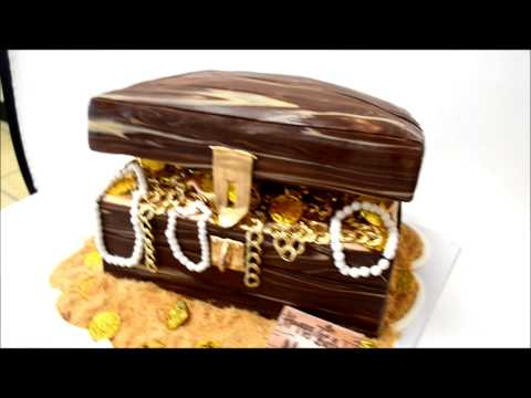 Pirate Treasure Chest Cake - Gold Coins