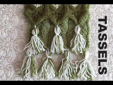 How To Make Tassel For Scarves And Blankets