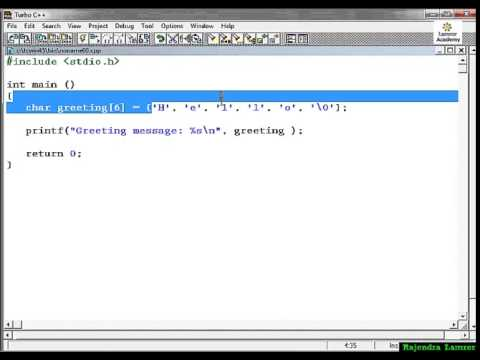 C Tutorial 27: String in C Programming