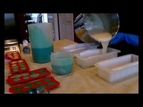 WATERFALL - DIY Cold Process Soap Making - Soap Wedding Favors - PART 2