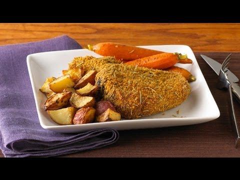 Rosemary Dijon Pork Chops and Oven Potatoes Dinner