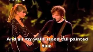 Taylor Swift  Ed Sheeran  Everything Has Changed Live  Lyrics