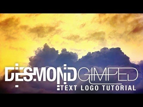 gimp | text logo tutorial | NO PHOTOSHOP