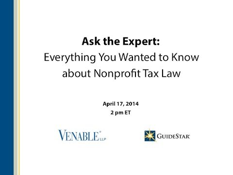 Ask the Expert: Everything You Wanted to Know about Nonprofit Tax Law