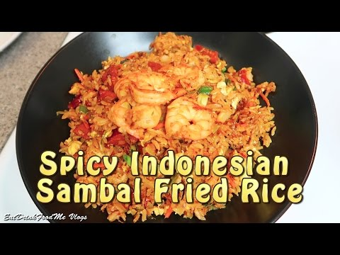 Easy Spicy Fried Rice - Indonesian Sambal Fried Rice - Cooking Vlog