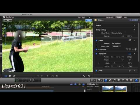 Blurred Face/Censor Effect in Final Cut Pro X (Tutorial 6)