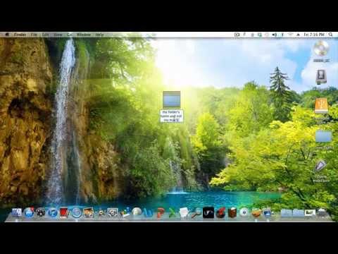 Rename Folder on a Mac - change the name