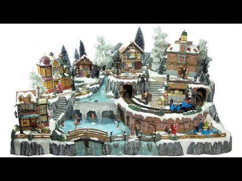 Illuminated Villages - Grand Christmas Town Scene - 85cm - The Christmas Warehouse