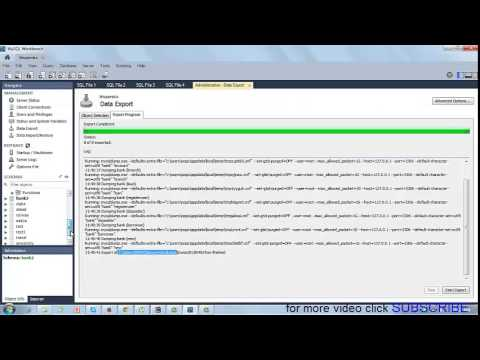 how to import and export database using mysql workbench 6.0