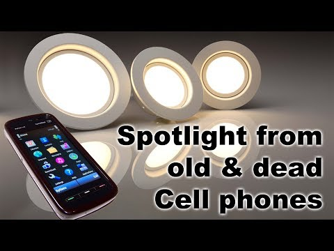 Making LED flash light from old & dead cell phones(life hacks)