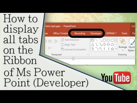 How to Access all Tabs (e.g. Developer, Draw, etc.) on PowerPoint | PPS