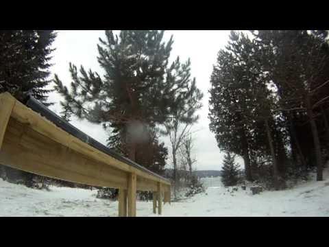 Backyard PVC ski rail