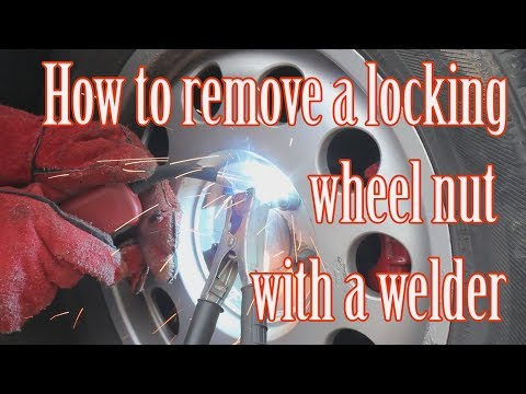 How to remove a locking wheel nut with a welder