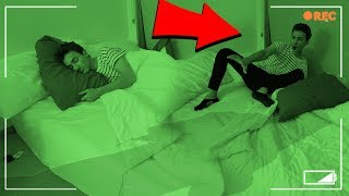 DO NOT RECORD YOURSELF SLEEPING AT 3 AM (OUR NEW APARTMENT IS... HAUNTED) / 3 AM SLEEPING CHALLENGE