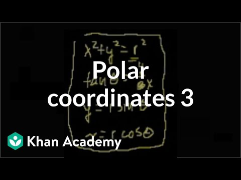 Polar coordinates 3 | Parametric equations and polar coordinates | Precalculus | Khan Academy