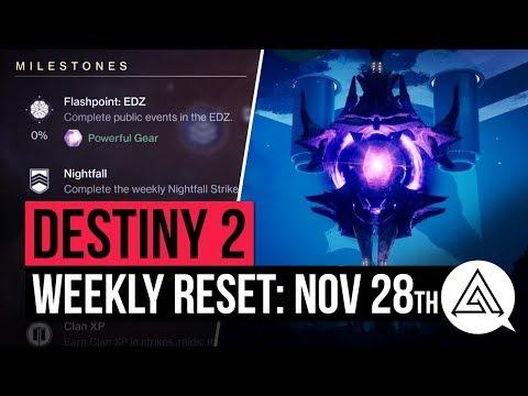 DESTINY 2 | Weekly Reset - Powerful Gear Engrams, Nightfall & Milestones (November 28th)