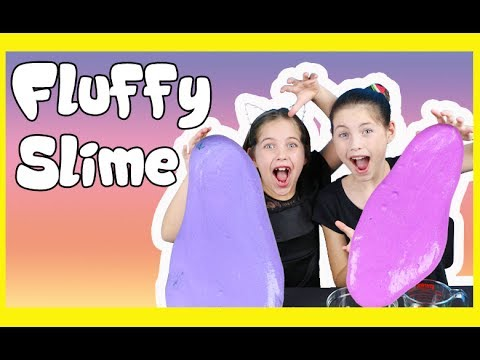 MAKING FLUFFY SLIME - mermaid glitter flubber slime diy recipe with charliscraftykitchen