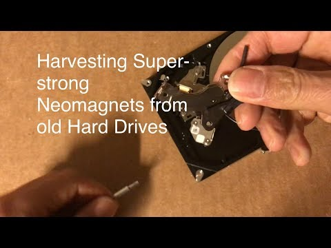 How to Get Superstrong Magnets from Old Hard Drive