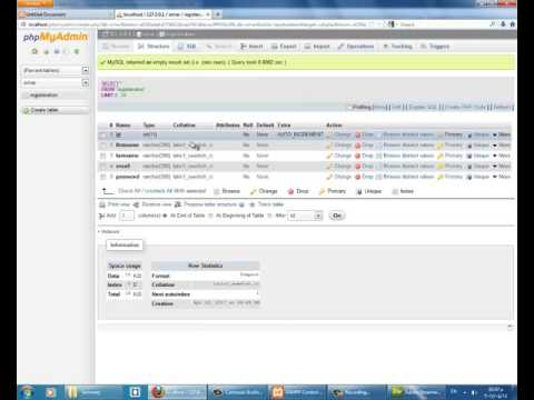 how to create aregistration and loginpage in Dreamweaver cs3
