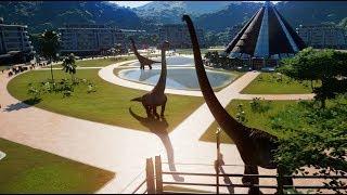 Brachiosaurus, Mamenchisaurus, Dreadnoughtus & Indominus Rex Breakout & Fight! (1080p 60FPS)