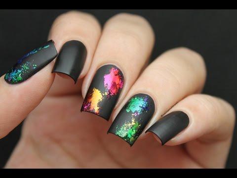 Splatter Foil Nails