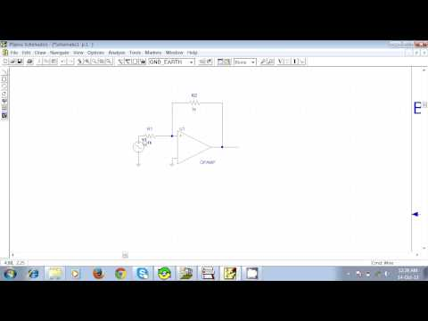 How to make an Inverting Amplifier in PSpice Schematics