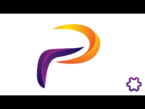 Adobe illustrator Tutorial : How to Make 3D Letter Logo Design With Simple Steps / 3D Letter P Logo