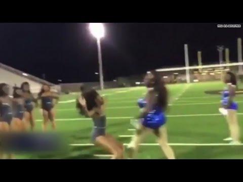 Video: Drill team dance-off turns violent