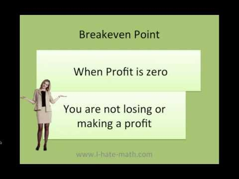 How to find Breakeven point in sales and units
