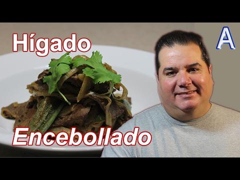 Higado de Res encebollado. Recetas de cocina faciles y economicas de comidas mexicanas caseras