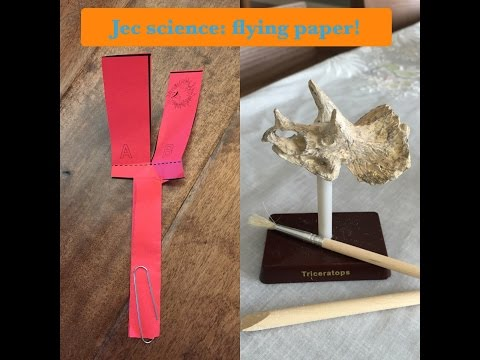 JEC Science: flying paper experiment