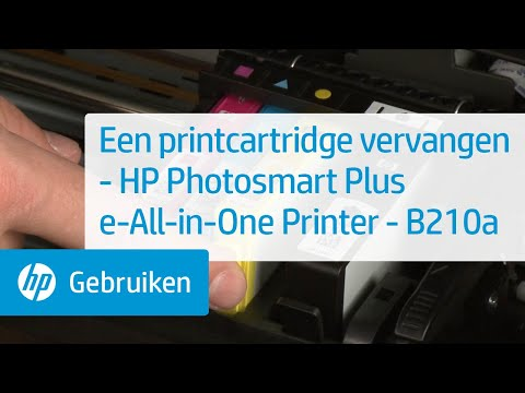 Een printcartridge vervangen - HP Photosmart Plus e-All-in-One Printer - B210a