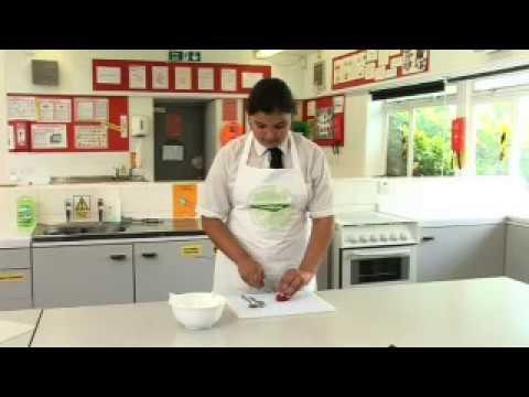Preparing chillies