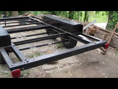 DIY part 3 trailer DIY build tandem axle trailer