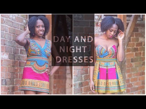 My Sewing Makes • Black Panther Inspired Dashiki Dresses • Day and Night Dress Challenge • Elewa
