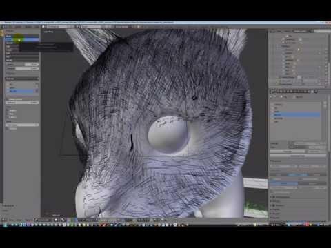 Blender 2.7 fur on cat model