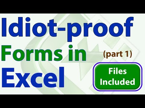 Idiot-Proof Forms in Excel - Part 1 - Formatting