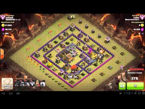 Clash of Clans TH8 vs TH8 (Dragloonion) Dragons, Balloons, Minions