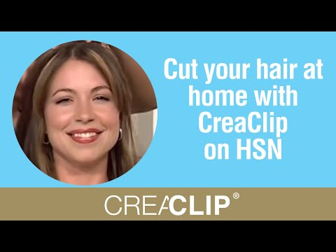 Cut your hair at home with CreaClip on HSN- Angled Bob, layers
