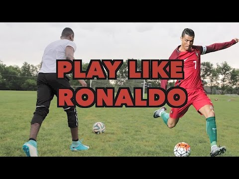HOW TO PLAY LIKE CRISTIANO RONALDO - SHOOT, DRIBBLE AND THINK LIKE RONALDO